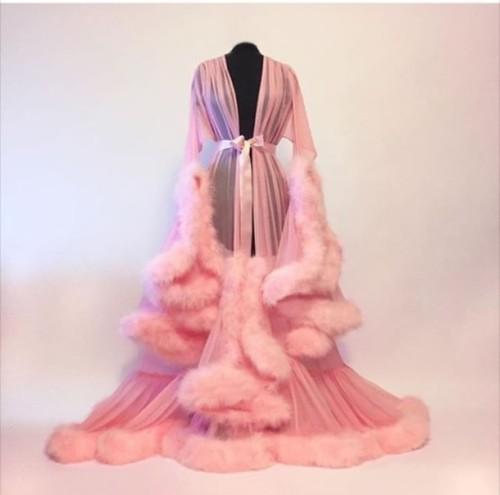 76kwcp-l-610x610-pajamas-pink-fur+robe-sleepwear-robe-bridal+lingerie
